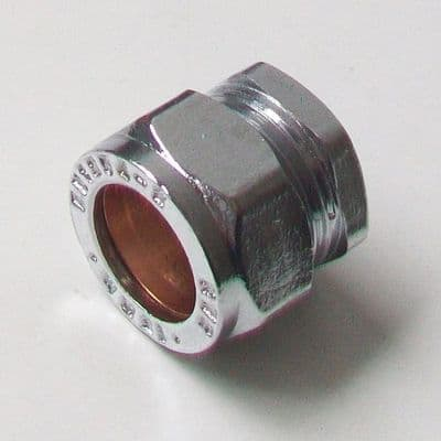 15mm Chrome Compression Stop End Cap