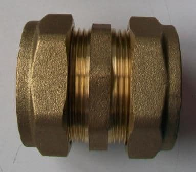 35mm Brass Compression Straight Coupling - 24403500