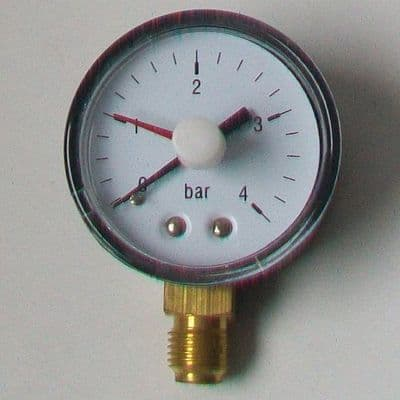 4 Bar Pressure Valve Gauge - Bottom Connection - 07000009