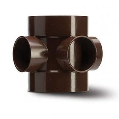 4 inch / 110mm Soil Pipe Short Boss Connector - Brown - 43BSE061