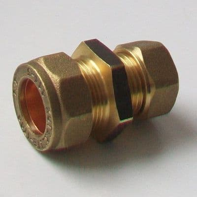 Brass 15mm Compression to 17.5mm - 3/8 inch Old Alkathene - 20221006