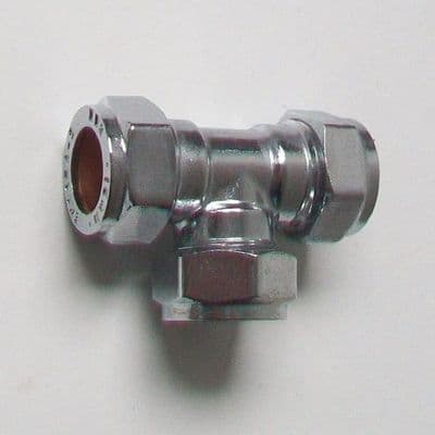 Chrome Plated 15mm Compression Equal Tee