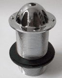Chrome / Stainless Steel Domed 1.1/4 inch Urinal Waste- 74000905