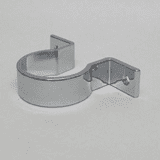 Chrome Wall Bracket Pipe Clip for 32mm Basin Waste - 68000001