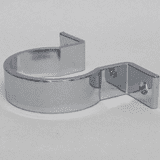 Chrome Wall Bracket Pipe Clip for 42mm Pipe - 68000003