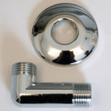 Concealed Shower Outlet Wall Plate Elbow Chrome - 74000245