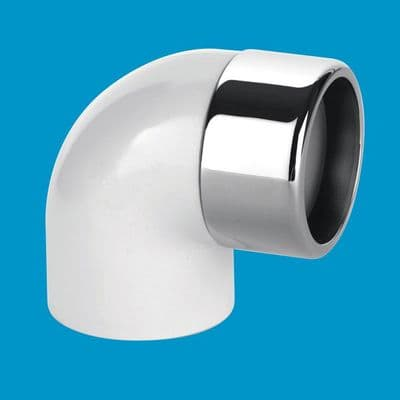 Elbow 42/43mm Chrome to 1.1/2 Solvent Weld Pipe - 38000015