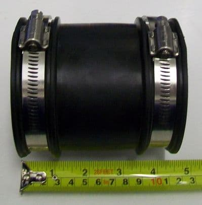 Flexible Rubber Downpipe Connector 60mm - 75mm - 54000380