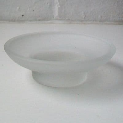 Frosted Glass Round Soap Dish - 01000023
