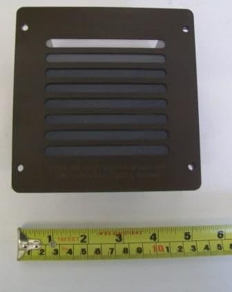 Fuel Effect Gas Fire Vent Steel Square 12 x 12