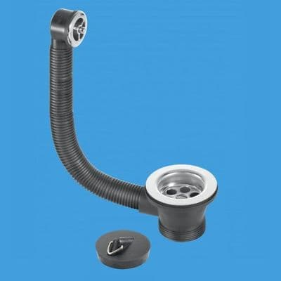 Kitchen Sink Combined Waste and Overflow 70mm Flange - 39000021