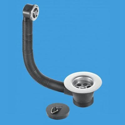 Kitchen Sink Combined Waste and Overflow 85mm Flange - 39000058