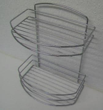 Lexington Wall Chrome Double Tier Shower Basket - 01073000