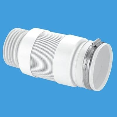 McAlpine Flexible Back to Wall Pan Connector 3.1/2 - 40000007