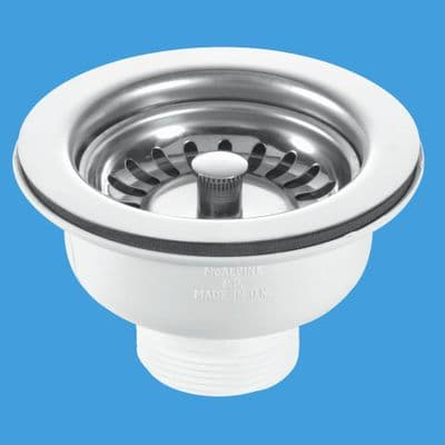 McAlpine Kitchen Sink Stainless Steel Basket Strainer Waste