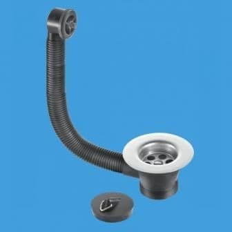 McAlpine Kitchen Sink Waste Outlet and Combined Overflow - 74000120
