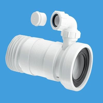 McAlpine Long 410mm Flexible WC Pan Connector with Basin Inlet