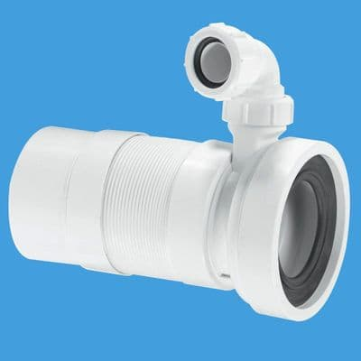 McAlpine Long Flexible Pan Connector Spigot with Basin Inlet