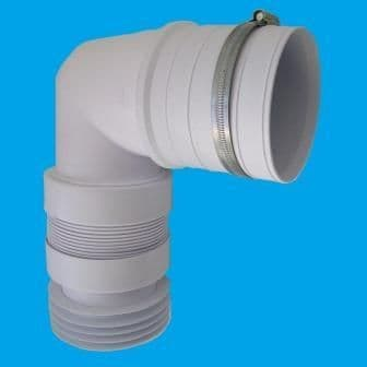 McAlpine Short Flexible Bent Back to Wall Pan Connector - 42000005