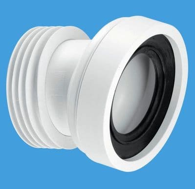 McAlpine Short Toilet Pan Connector 14 Degree Angled