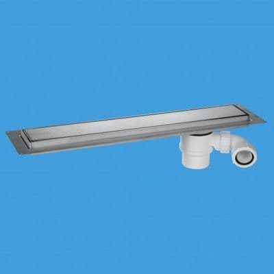 McAlpine Shower Channel Drain Brushed Stainless Steel