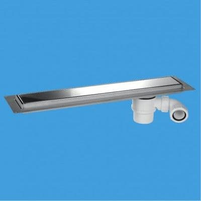 McAlpine Shower Channel Drain Polished Stainless Steel