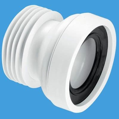 McAlpine Straight WC Short Toilet Pan Connector