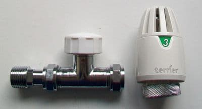 Pegler Terrier 15mm Straight TRV Radiator Valve - 07002123