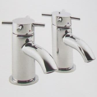 Pegler Xia Cross Top Bath Pillar Taps - Old Style - 584K8006