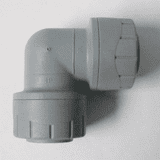 Polyplumb Push Fit 22mm Pipe Bent 90 Elbow Fitting - 29P12022
