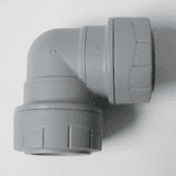 Polyplumb Push Fit 28mm Pipe Bent 90 Elbow Fitting - 29P12028