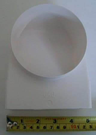 Rectangle to Round Duct Adapter Bend White