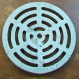 Round Galvanized Dished Gully Grid / Grating 9 inch - 45000125