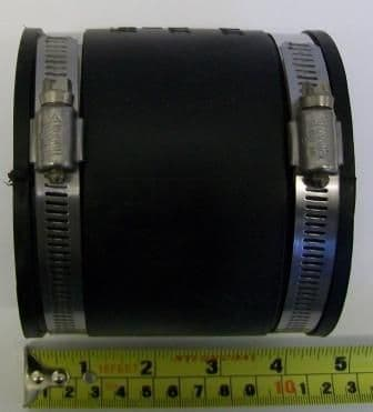 Rubber 3 inch Soil Waste Pipe Connector 75mm to 92mm
