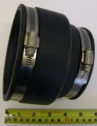 Rubber Soil Pipe Reducing Connector 80-95mm x 110mm-122mm