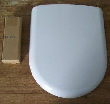 Smooth Wrap Over D Shape Soft Close Top Fix Toilet Seat - 02002336
