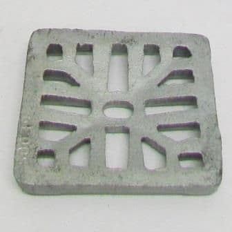 Square Galvanized 4 inch - 102mm Gully Grid - 45000123