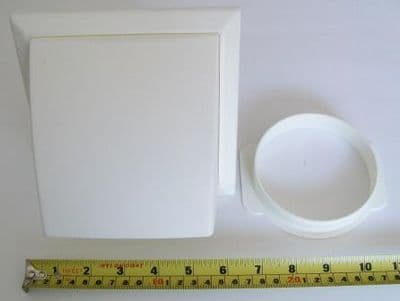 Ventilation Hooded Vent with Anti Draft Flap - White