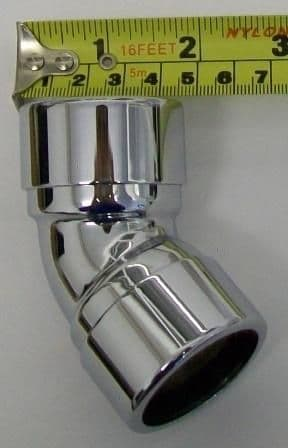 Chrome Plated 135° 35mm Compression Bend