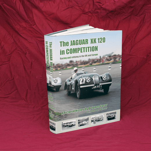 XK120 in Competition by Dr. James Fraser
