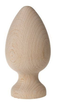 Solid beech Knowle Finial 60 mm Dia x 120mm H (SOLD IN PAIRS)