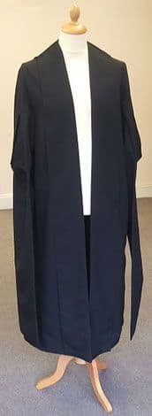 Q.C. Gown Silk/Wool mix