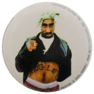 2Pac - 'Thug Life' Button Badge