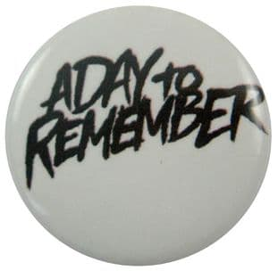 A Day to Remember - 'Name Black' Button Badge