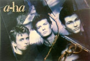 a-ha - 'Group Rope' Postcard