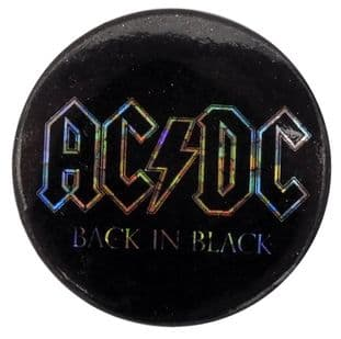 AC/DC - 'Back in Black' Prismatic Button Badge