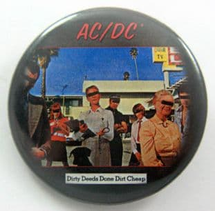 AC/DC - 'Dirty Deeds' Large Button Badge