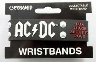 AC/DC - 'For Those About to Rock' Collectable Rubber Wristband