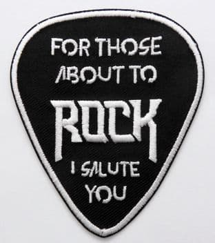 AC/DC - 'For Those About to Rock' Sew-on Embroidered Patch