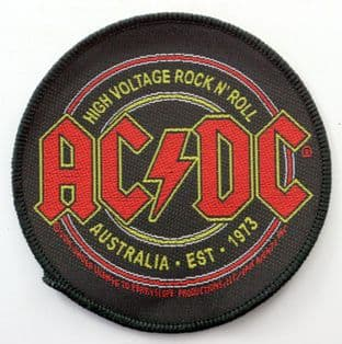 AC/DC - 'High Voltage Rock N'Roll' Woven Patch